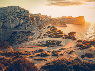 Our taxis in Mallorca will take you to the most beautiful sunsets at the Cap de Formentor